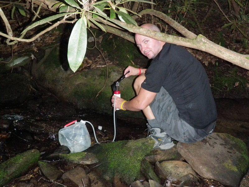 Water at camp 1