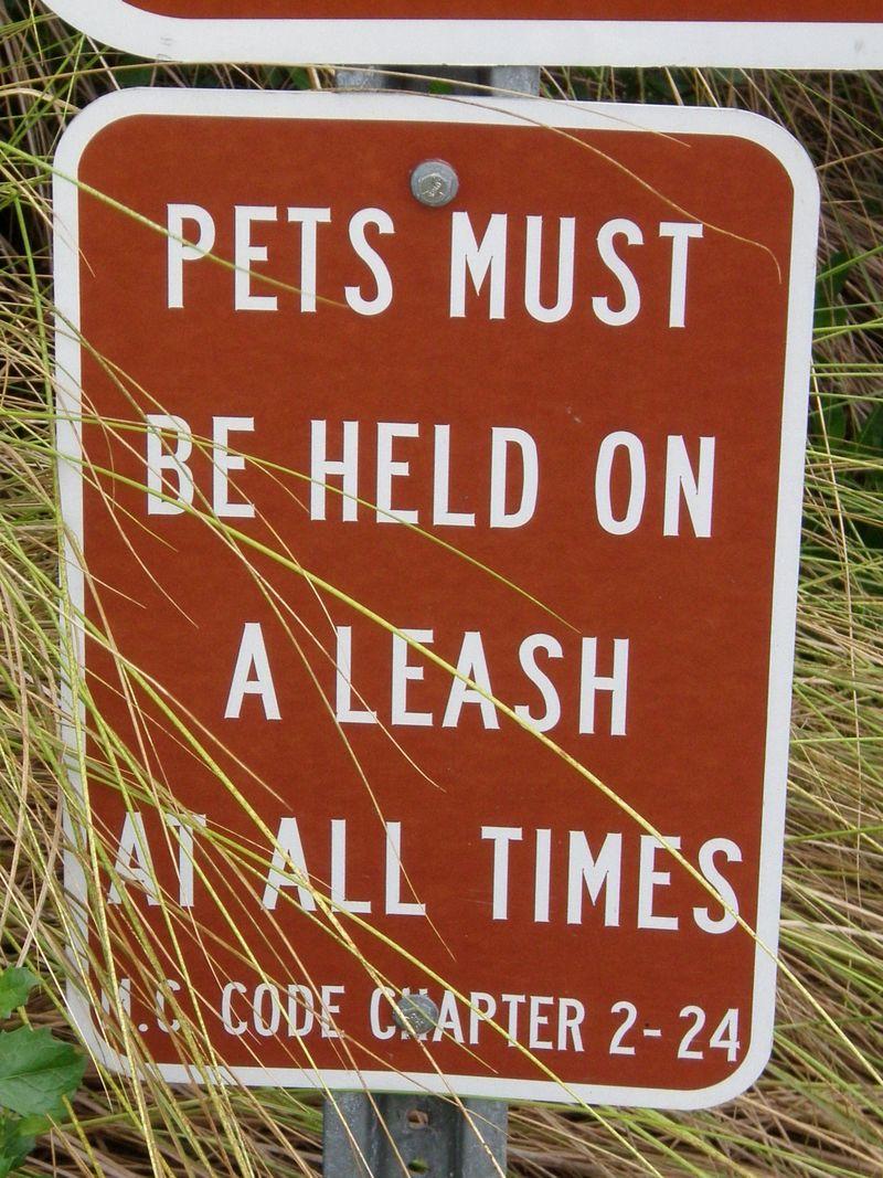 Pet sign