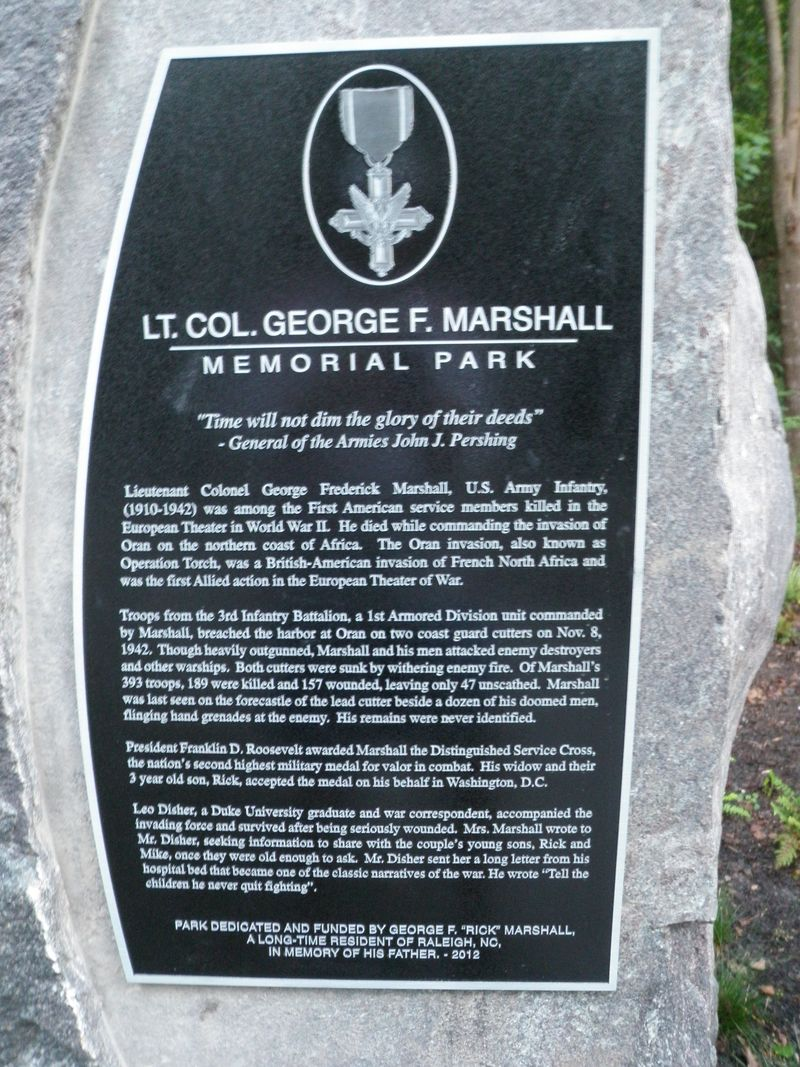 Marshall plaque